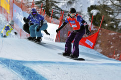 Snowboard cross world cup 2010 Stock Photo
