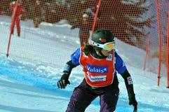 Snowboard cross world cup 2010 Royalty Free Stock Photos