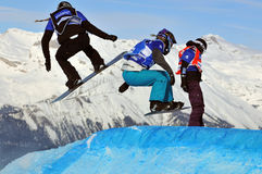 Snowboard cross world cup 2010 Stock Images