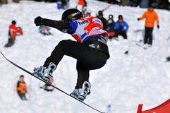 Snowboard cross world cup 2010 Stock Photos