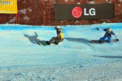 Snowboard cross world cup 2010 Stock Image