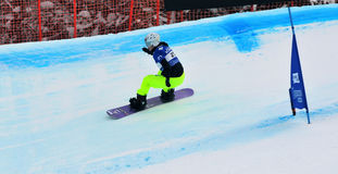 Snowboard cross world cup 2010 Stock Photo