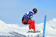 Snowboard cross world cup 2010: Fagan Royalty Free Stock Images