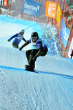 Snowboard cross world cup 2010: Italian finalists Royalty Free Stock Photo