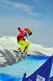 Snowboard cross world cup 2010: Markus Schairer Royalty Free Stock Photography