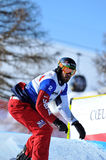 Snowboard cross world cup 2010. Wescott Royalty Free Stock Photo
