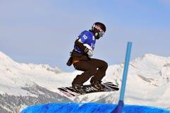 Snowboard cross world cup 2010. Yuka Fujimori Royalty Free Stock Photos