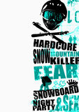 snowboard de 3 fonds Image stock