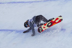 Snowboard de FIS campeonato do mundo grande do ar Foto de Stock
