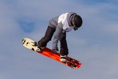 Snowboard de FIS campeonato do mundo grande do ar Imagens de Stock Royalty Free