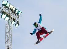 Snowboard de FIS campeonato do mundo grande do ar fotos de stock royalty free