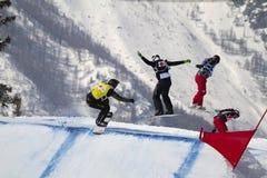 Snowboard de la taza de mundo Fotografía de archivo