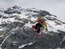 Snowboard dell'aria della tazza di mondo grande Fotografia Stock Libera da Diritti