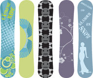 Snowboard design. Vector snowboard design pack - see portfolio for more Royalty Free Stock Image