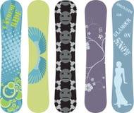 Snowboard design royalty free stock image