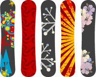 Snowboard design. Vector snowboard design pack - see portfolio for more Royalty Free Stock Photos