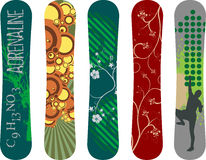 Snowboard design. Vector snowboard design pack - see portfolio for more Royalty Free Stock Photo