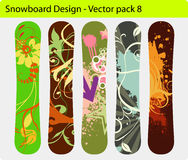 Snowboard design Royalty Free Stock Photo