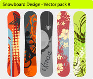 Snowboard design Royalty Free Stock Photography