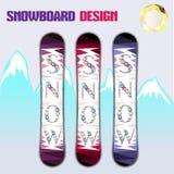 Snowboard_design Foto de archivo libre de regalías