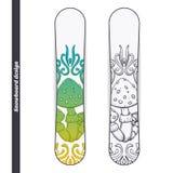 Snowboard Design Abstract Mushroom One Royalty Free Stock Photo