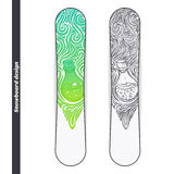 Snowboard Design Alchemical Bottle Royalty Free Stock Photography