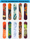 Snowboard design pack Royalty Free Stock Image