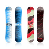 Snowboard design. Template illustration on white Stock Photo