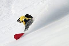 Snowboard di Freeride. Fotografie Stock