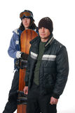 Snowboard Duo Stock Image