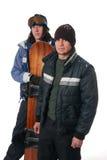 Snowboard Duo Stock Image