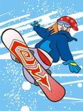 snowboard dziewczyny Obraz Royalty Free