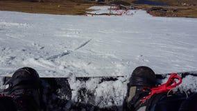 Snowboard en el afriski en Lesotho imágenes de archivo libres de regalías