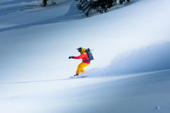 Snowboard en el invierno Imágenes de archivo libres de regalías