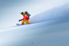 Snowboard en el invierno Fotografía de archivo