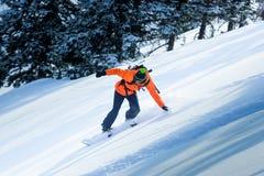 Snowboard en el invierno Fotos de archivo