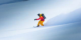 Snowboard en el invierno Foto de archivo