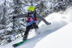Snowboard en el invierno Fotografía de archivo libre de regalías