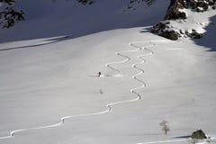 Snowboard en ski in berg royalty-vrije stock fotografie
