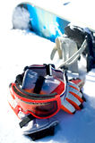 Snowboard equipment Stock Images
