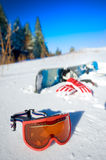Snowboard equipment Royalty Free Stock Photo