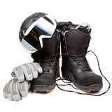 Snowboard equipment Stock Photography