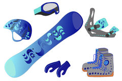 Snowboard equipment Royalty Free Stock Images