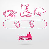 Snowboard equipment Stock Photo