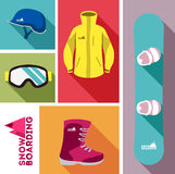 Snowboard equipment Royalty Free Stock Image