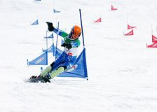 Snowboard European Cup Stock Photo