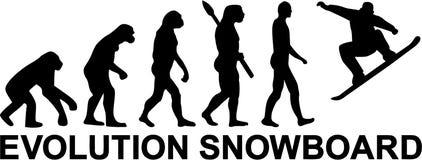 Snowboard Evolution. Vector sports icon Stock Photo