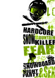 snowboard för 2 bakgrund Arkivbilder
