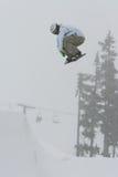 snowboard för luftb-sida Arkivbilder