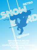 Snowboard font set Royalty Free Stock Photo